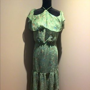 Off the shoulder full length dress